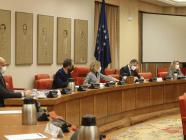 Imagen: La Mesa de la Comisión Consultiva de Nombramientos, presidida por Meritxel Batet