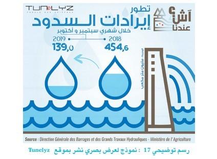 Una infografía creada por el proyecto tunecino de periodismo de datos Tunelyz
